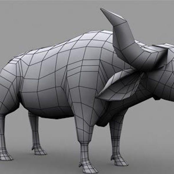 Buffalo Low Poly Model