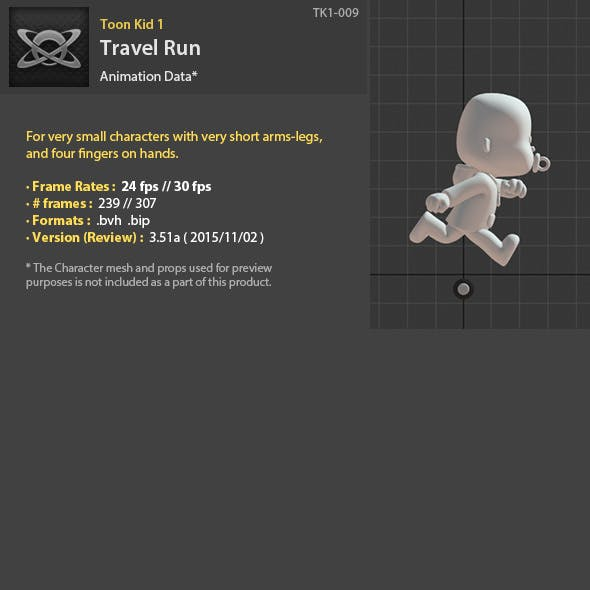 TK1-009 Travel Run - 3DOcean Item for Sale