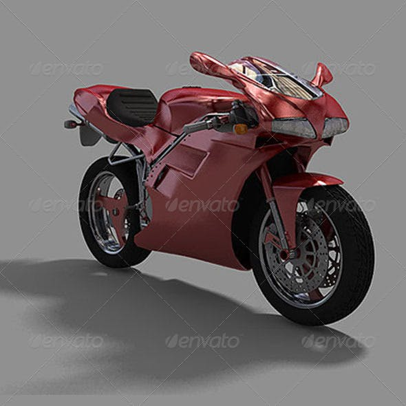 Sport Bike  - 3DOcean Item for Sale