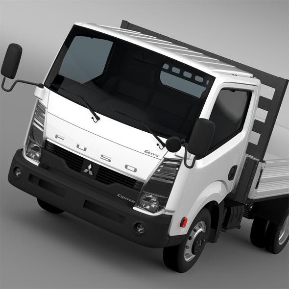 Mitsubishi Fuso Canter Guts Tipper 2015 - 3DOcean Item for Sale