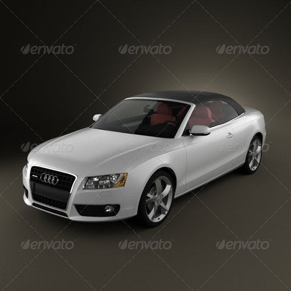 Audi A5 Convertible  - 3DOcean Item for Sale