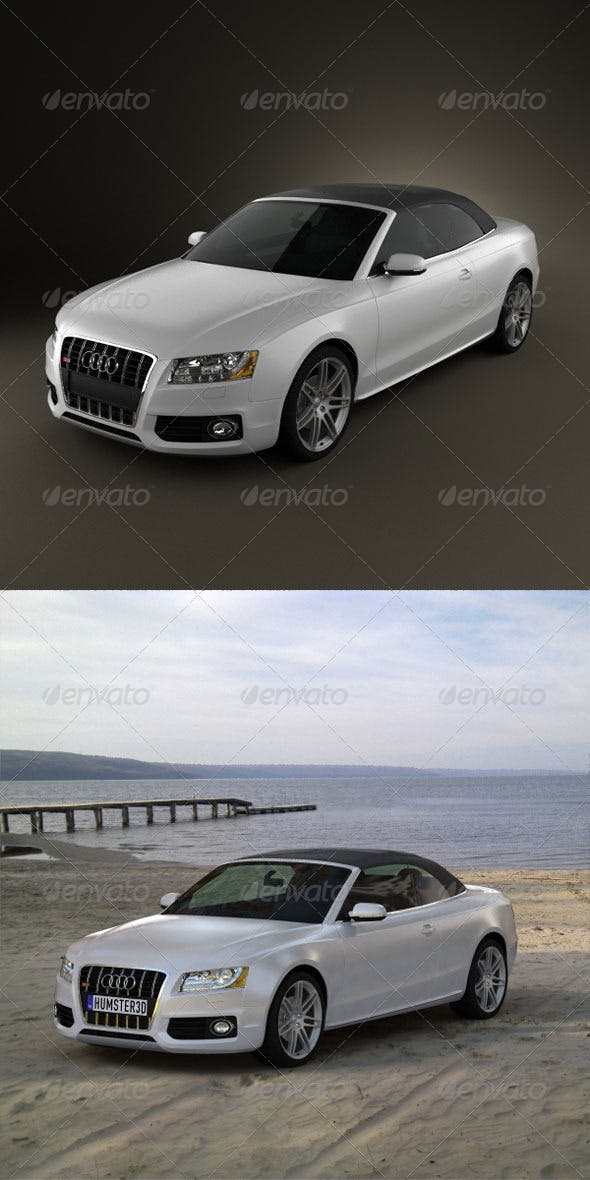 Audi S5 Convertible  - 3DOcean Item for Sale
