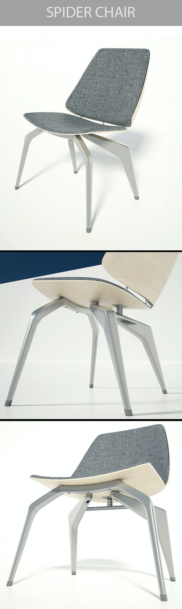 Spider Chair - 3DOcean Item for Sale