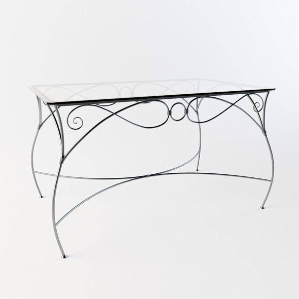 Forged dinner table