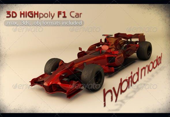 High Poly Hybrid F1 Car - 3DOcean Item for Sale