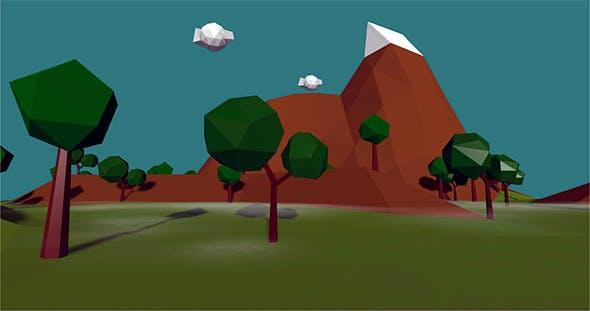 Low Poly Terrain - 3DOcean Item for Sale