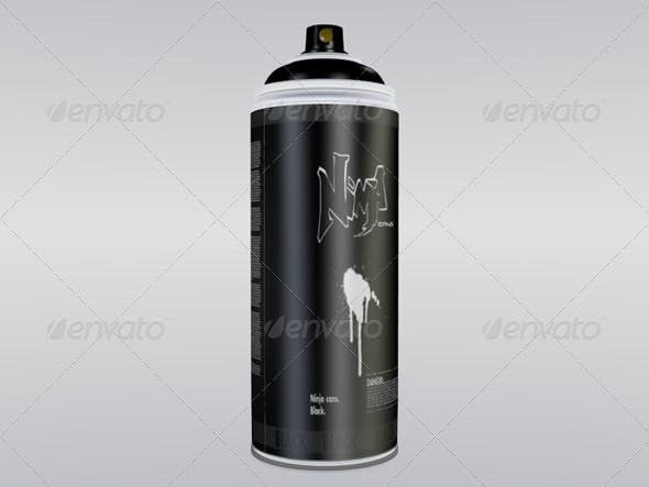 Graffiti Paint Can - 3DOcean Item for Sale