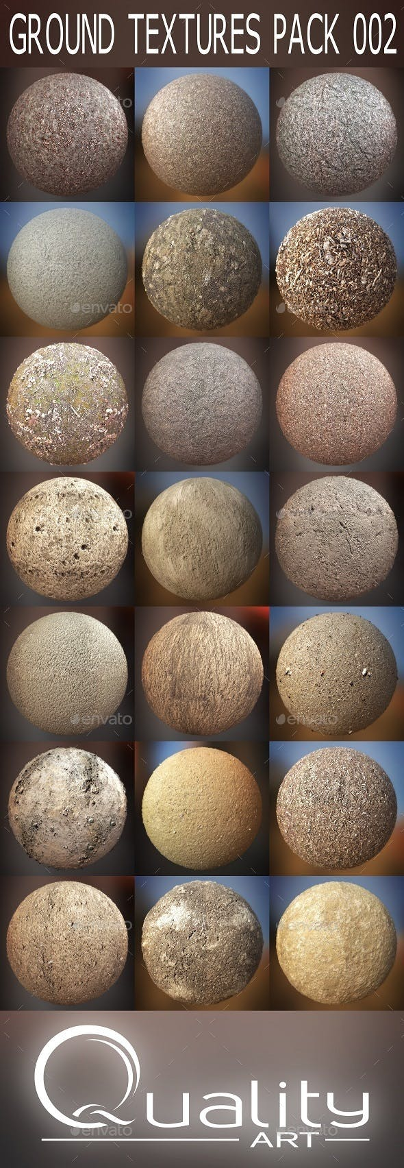 Ground Textures Pack 002 - 3DOcean Item for Sale