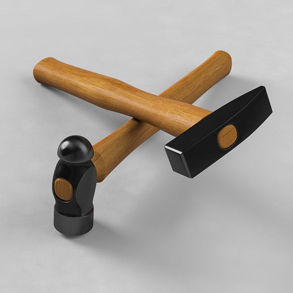 Woodcraft Hammers - 3DOcean Item for Sale