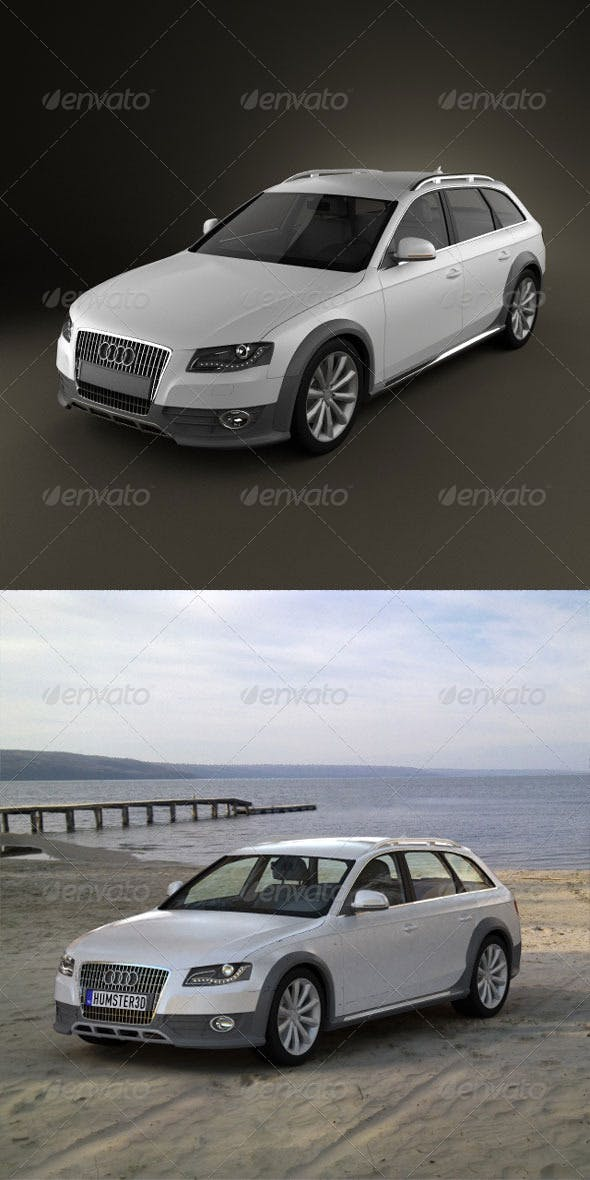 Audi A4 Allroad 2010 - 3DOcean Item for Sale