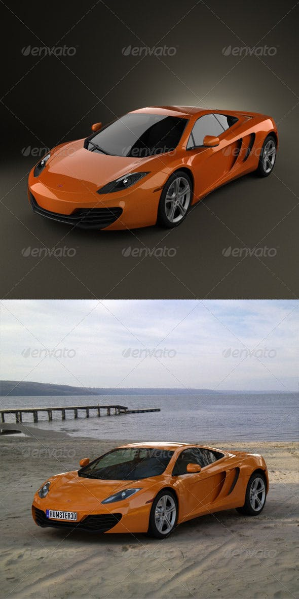 McLaren MP4-12C 2011  - 3DOcean Item for Sale