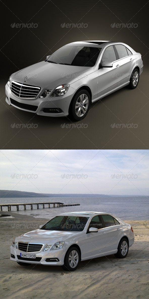 Mercedes-Benz E500 2010  - 3DOcean Item for Sale