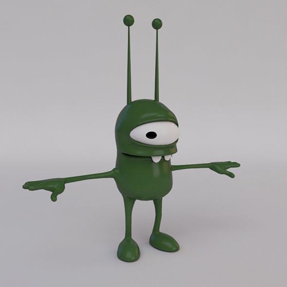 Cartoon Alien - 3DOcean Item for Sale
