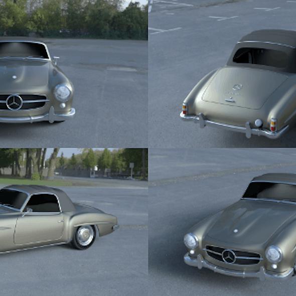 Mercedes 190SL Soft Top
