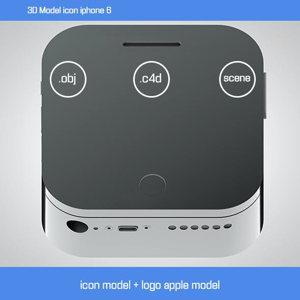 3D Model icon iphone 6