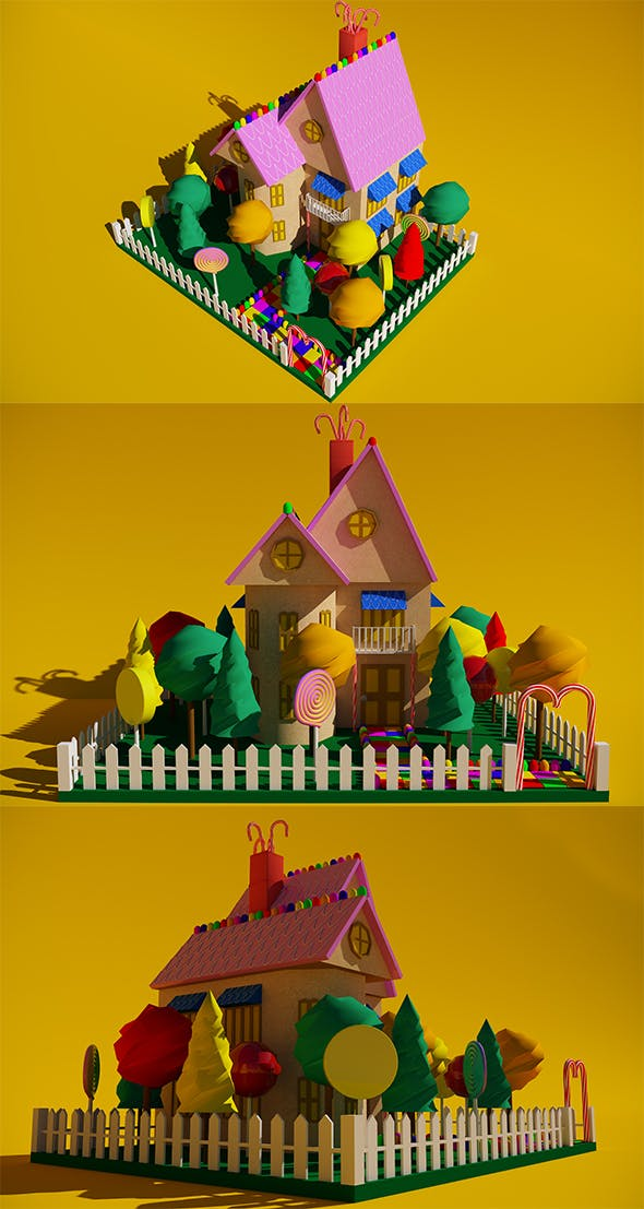 Gingerbread House 2 - 3DOcean Item for Sale