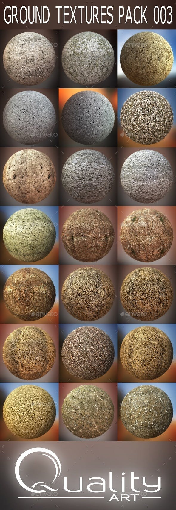 Ground Textures Pack 003 - 3DOcean Item for Sale