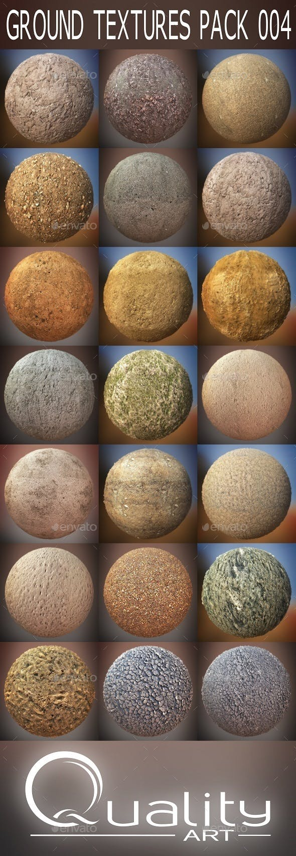 Ground Textures Pack 004 - 3DOcean Item for Sale