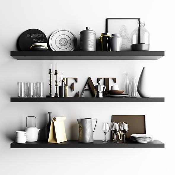 Shelf with utensils