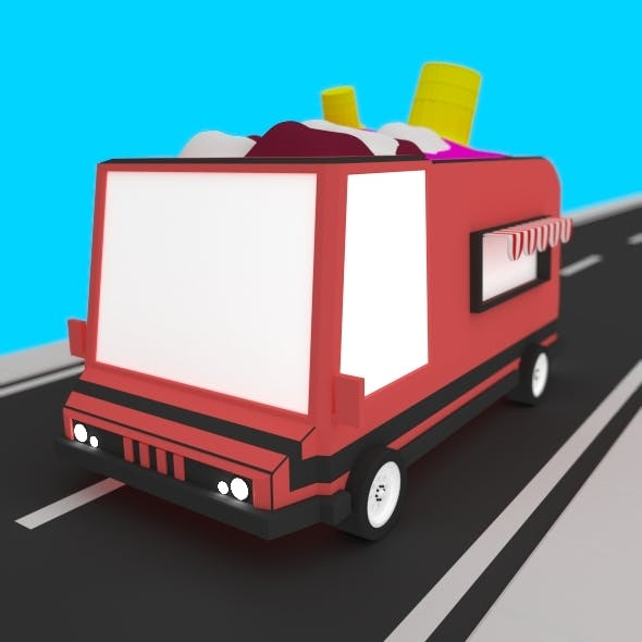 Low Poly Ice Cream Truck