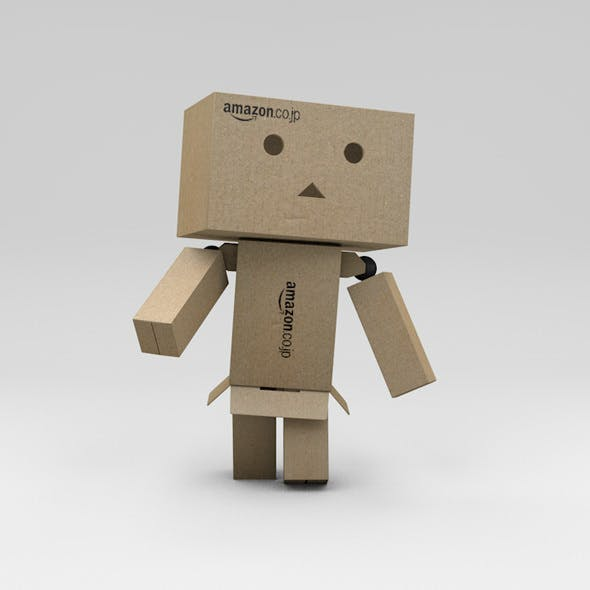 Rigged Danbo Cardboard Character with Controllers