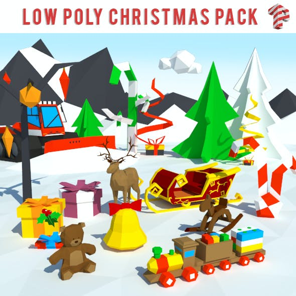 Low Poly Christmas Pack