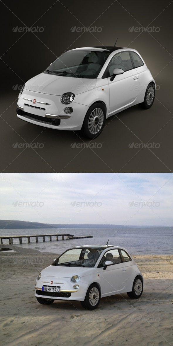 Fiat 500  - 3DOcean Item for Sale