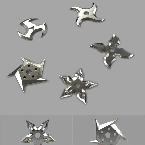 5 Shuriken Set - Throwing Star
