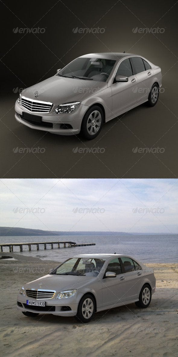 Mercedes-Benz C class  - 3DOcean Item for Sale