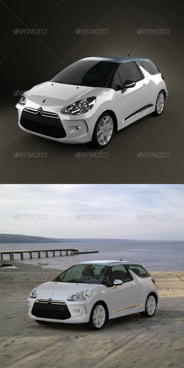 Citroen DS3 2011  - 3DOcean Item for Sale