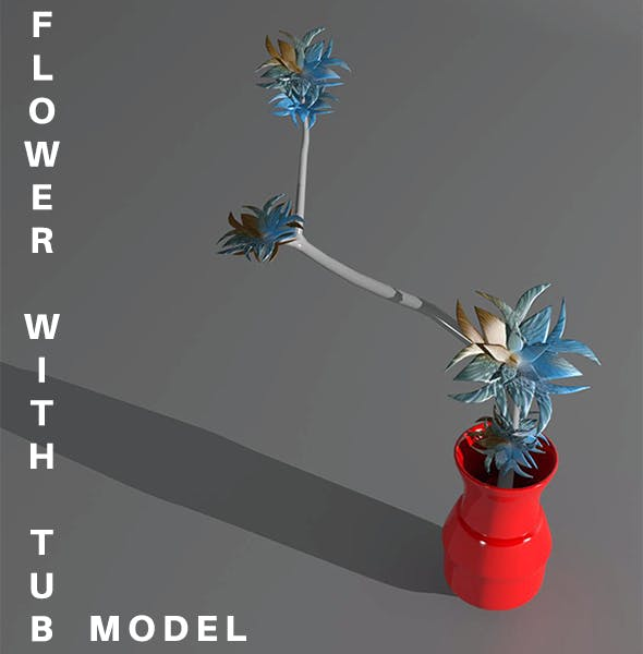 Flower with Tub Model - 3DOcean Item for Sale