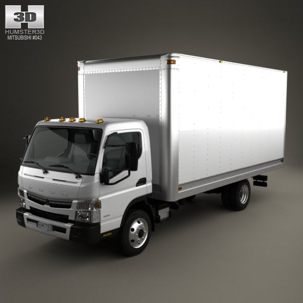 Mitsubishi Fuso Box Truck 2013 - 3DOcean Item for Sale