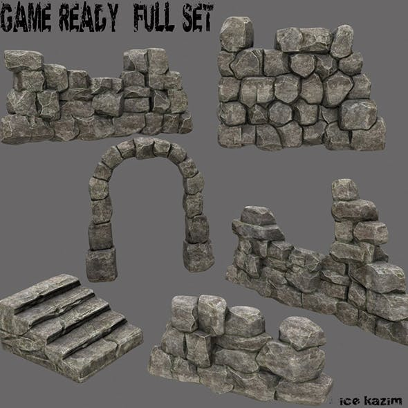 wall_set - 3DOcean Item for Sale