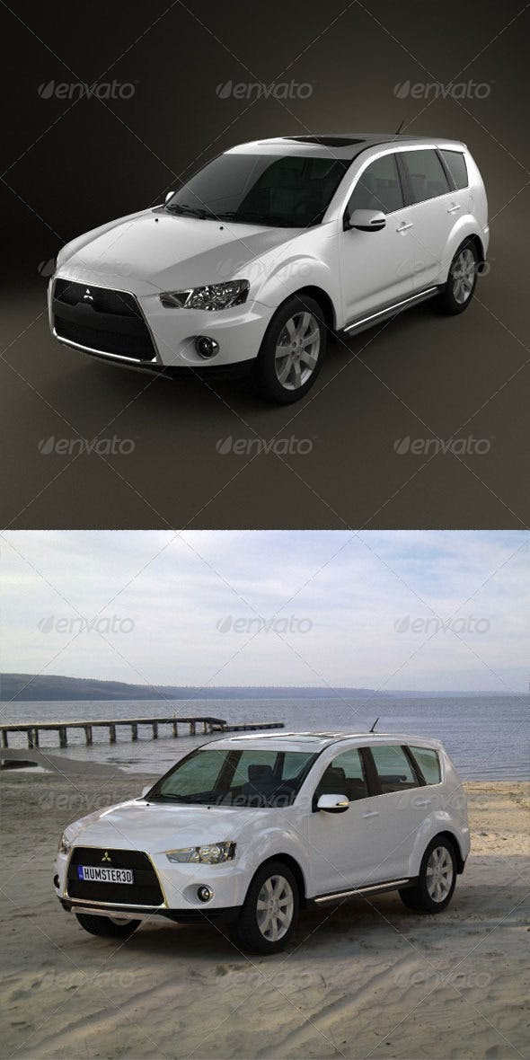 Mitsubishi Outlander GT 2010  - 3DOcean Item for Sale
