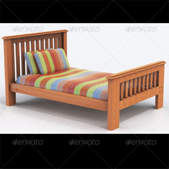 Bounty king single bed - 3DOcean Item for Sale