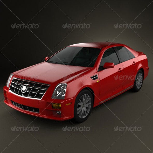 Cadillac STS 2010  - 3DOcean Item for Sale