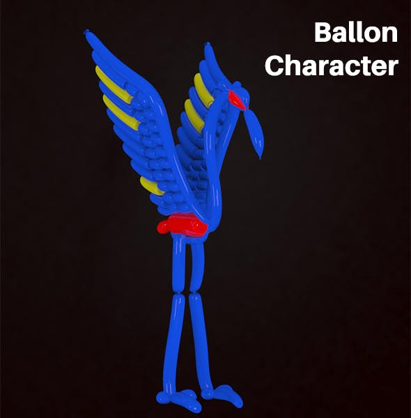 Peacock Balloon - 3DOcean Item for Sale