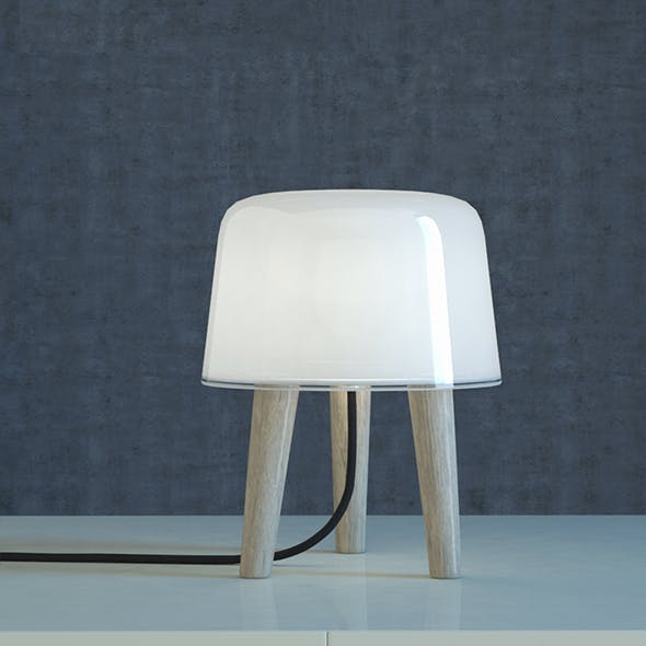 Tradition Milk Table Lamp - 3DOcean Item for Sale