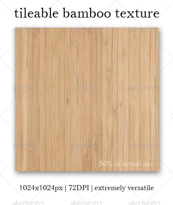 Bamboo Texture - Tileable - 3DOcean Item for Sale
