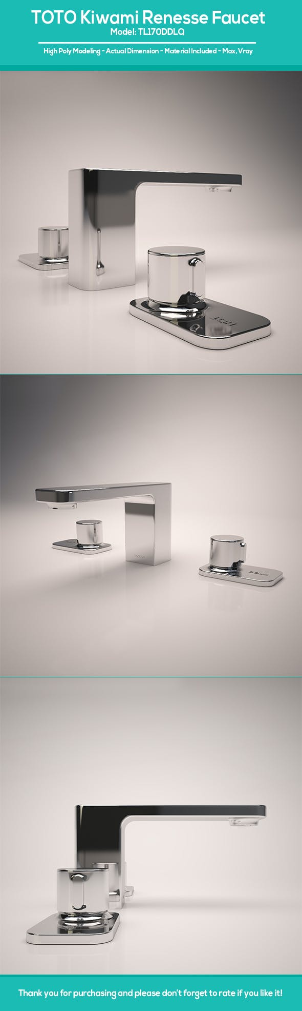 TOTO Kiwami Renesse Faucet - 3DOcean Item for Sale