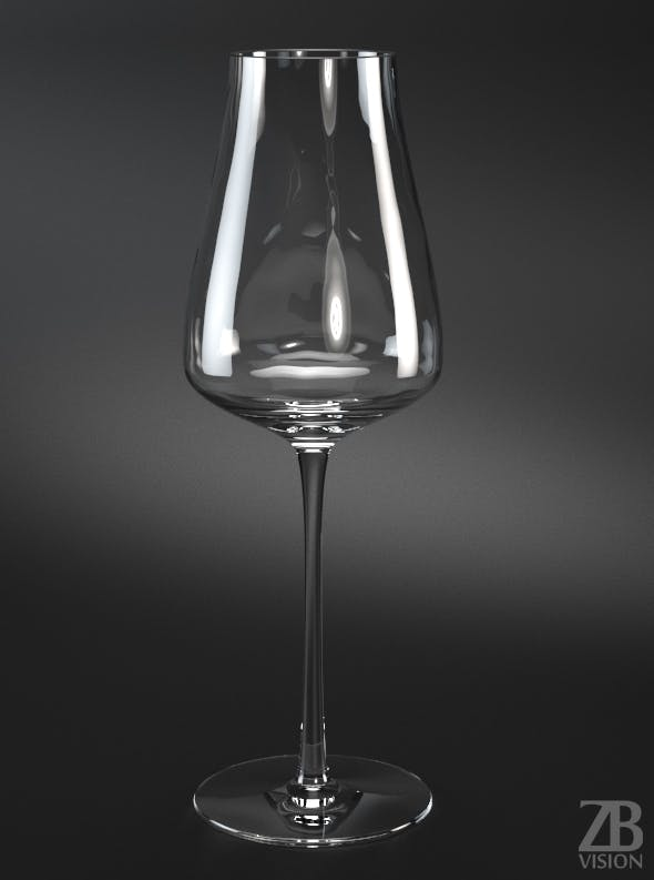 Shiraz Red Wine Glass - 3DOcean Item for Sale
