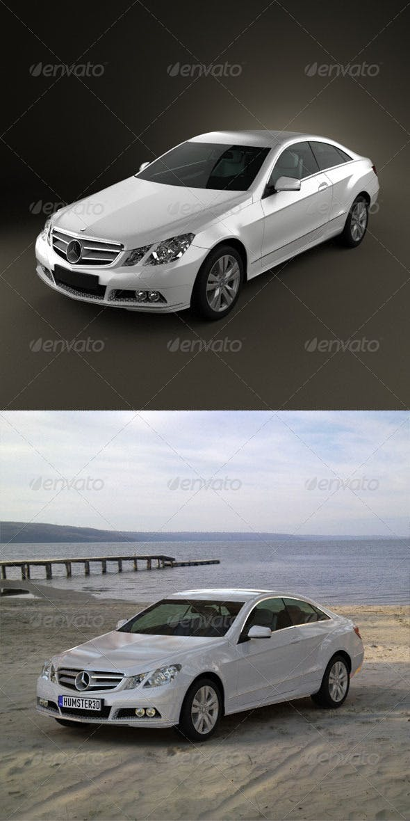 Mercedes-Benz E coupe 2011  - 3DOcean Item for Sale
