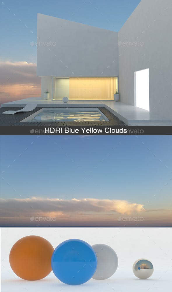 Blue Yellow Clouds HDRI - 3DOcean Item for Sale