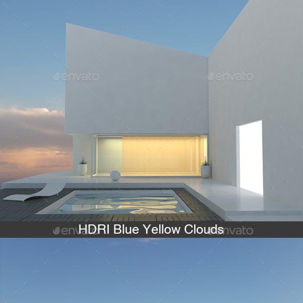 Blue Yellow Clouds HDRI