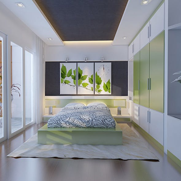 3dsmax And Vray Setting Of Bedroom Interior Cg Textures 3d Model