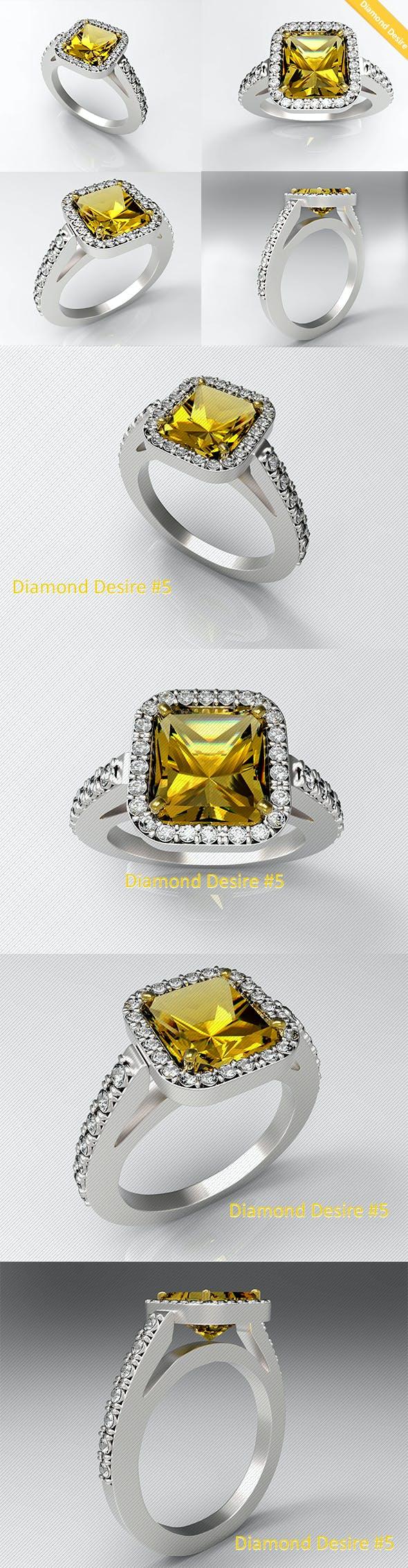 Diamond Ring 5 - 3DOcean Item for Sale