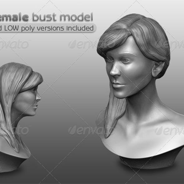 3D Female Bust Model