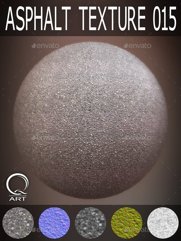 Asphalt Textures 015 - 3DOcean Item for Sale