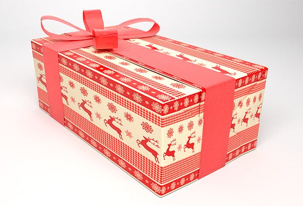 Gift Box Christmas  - 3DOcean Item for Sale