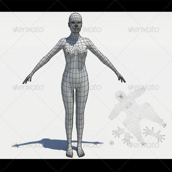 Low poly girl mesh